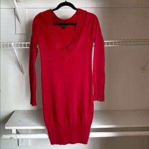 Express Deep V-Neck Stretch Sweater Dress